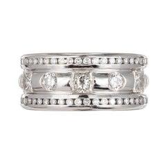 Whitney Boin 2.68 Carat Platinum Diamond Wedding Band Ring