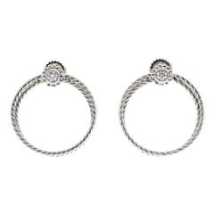 Bielka Diamond Twisted Wire Gold Hoop Earrings