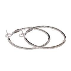 .77 Carat Diamond Hoop Earrings