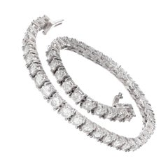 5.38 Carat Brilliant Cut Diamond White Gold Bracelet