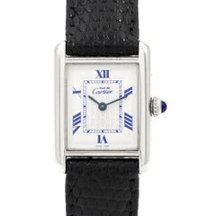 Cartier Ladies Silver Must de Cartier Tank Quartz Wristwatch Ref 2416
