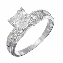 .90 Carat Diamond Old European Cut Platinum Engagement Ring