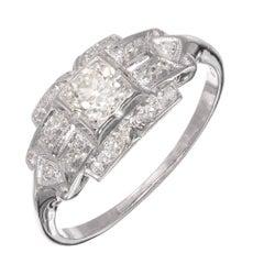 .30 Carat Old Euro Diamond White Gold Art Deco Engagement Ring
