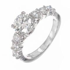 1.01 Carat Brilliant Cut Diamond Platinum Engagement Ring