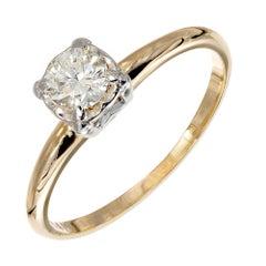.35 Carat Diamond Yellow White Gold Engagement Ring