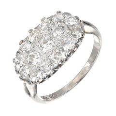 1.50 Carat Diamond White Gold Cluster Cocktail Ring