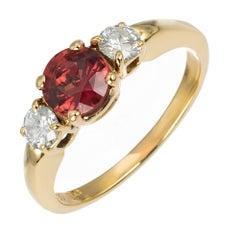 Tiffany & Co. Carat Sapphire Diamond Gold Three-Stone Engagment Ring