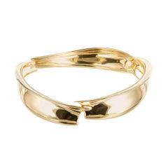 Tiffany & Co. Frank Gehry Yellow Gold Bangle Bracelet