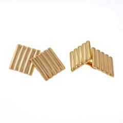 Tiffany & Co. 14 Karat Yellow Gold Square Cufflinks