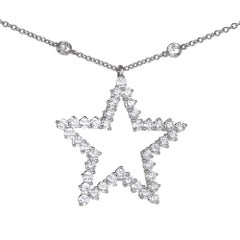 Tiffany & Co. Diamond Platinum Pendant Necklace