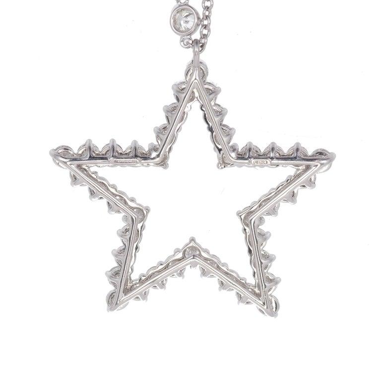Tiffany & Co. Diamond Platinum Pendant Necklace For Sale 1