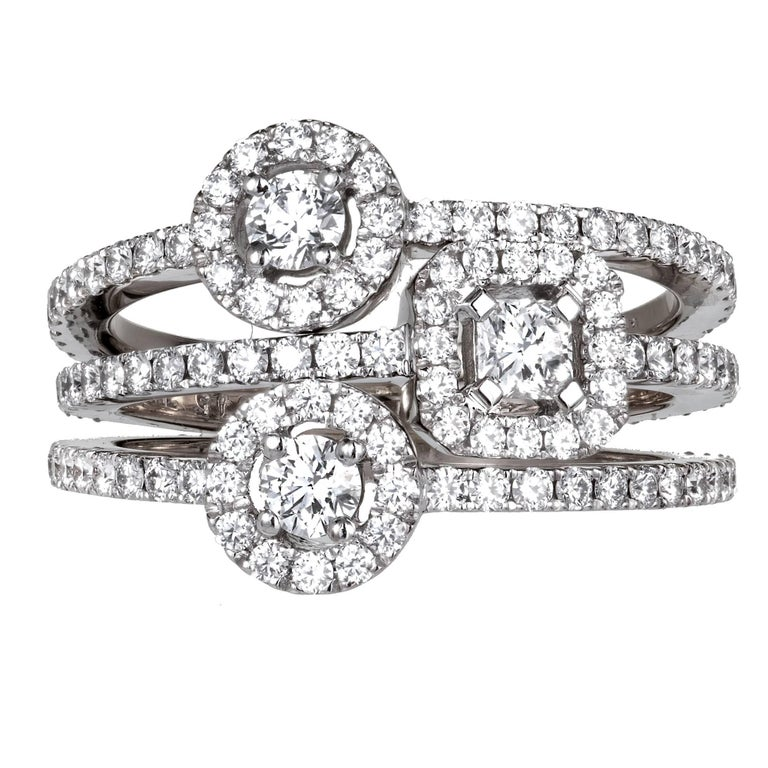 Hearts on Fire Repertoire Select Dream Three-Diamond Gold Ring