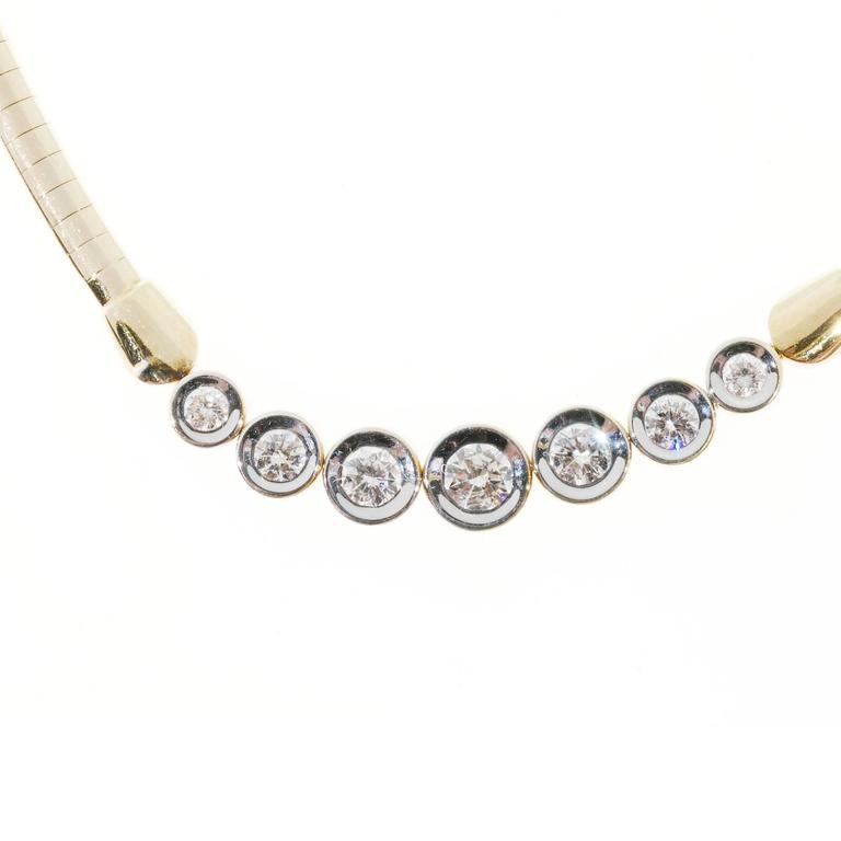 Seven diamond gold tube set domed omega necklace pendant for sale at seven diamond gold tube set domed omega necklace pendant in good condition for sale in stamford mozeypictures Choice Image