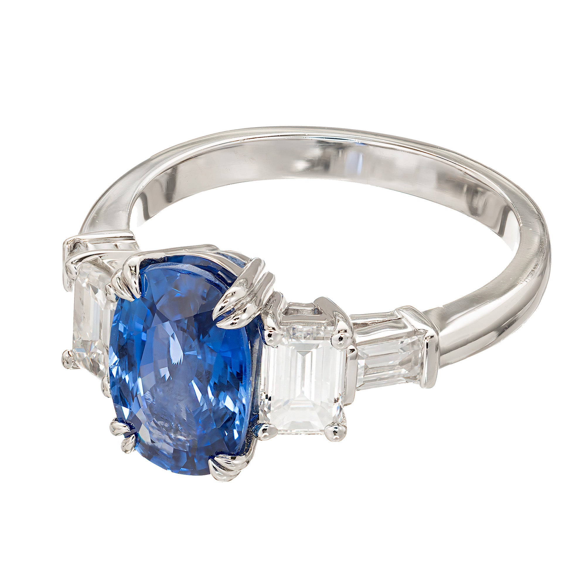 jewelry women lyst mirage infinity designer white in blue sapphire save s gold ring hueb diamond
