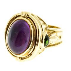 Seidengang Amethyst Tourmaline Gold Flip Ring
