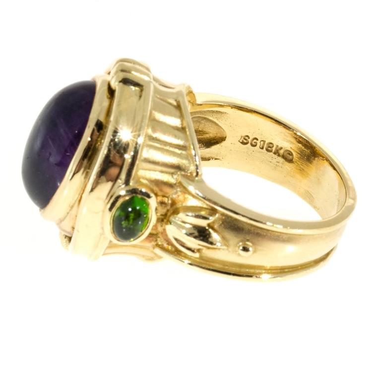 Seidengang Amethyst Tourmaline Gold Flip Ring  For Sale 4