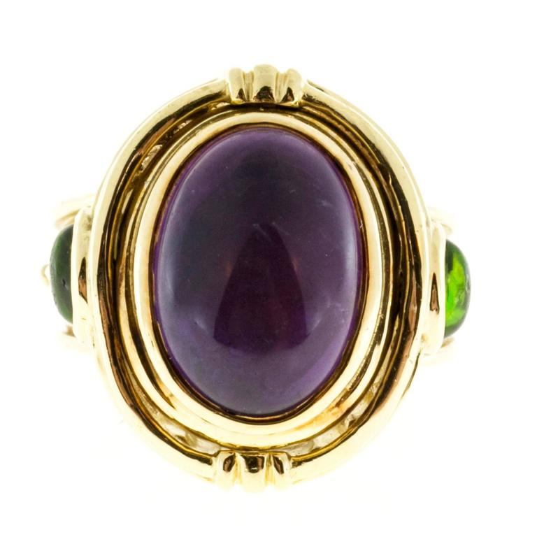 Seidengang Amethyst Tourmaline Gold Flip Ring  For Sale 3