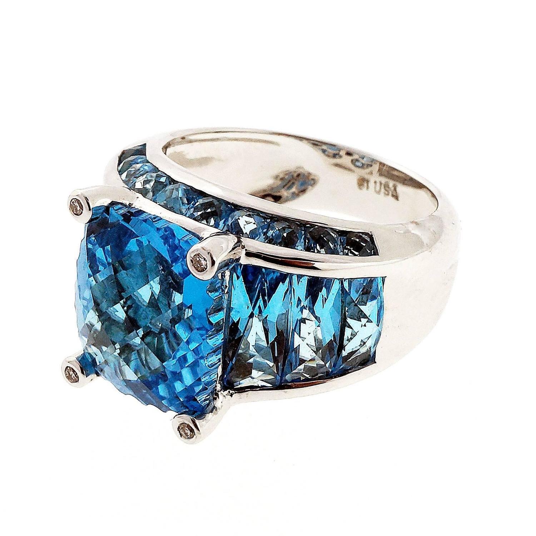 bellarri blue topaz white gold ring at 1stdibs