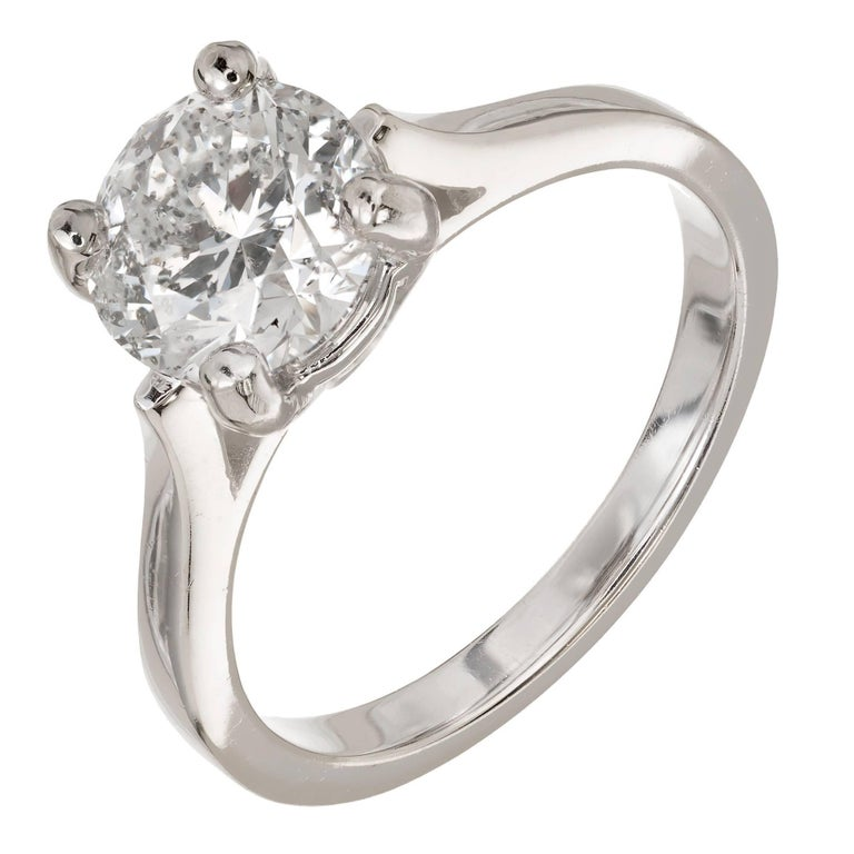 EGL Certified 1.91 Carat Round Diamond Gold Solitaire Engagement Ring