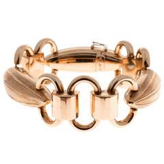 1940s Hinged Gold Link Bracelet