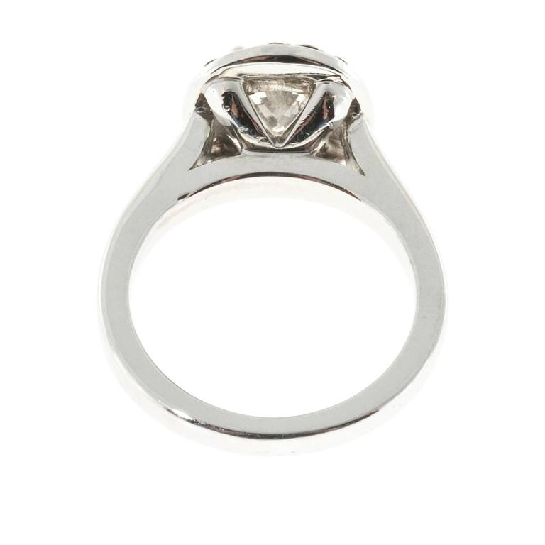 oval and black halo platinum ring for sale