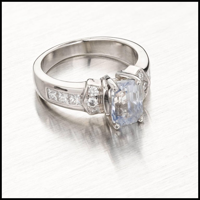 Peter Suchy GIA Certified 2.58 Carat Sapphire Diamond Gold Engagement Ring In Good Condition For Sale In Stamford, CT