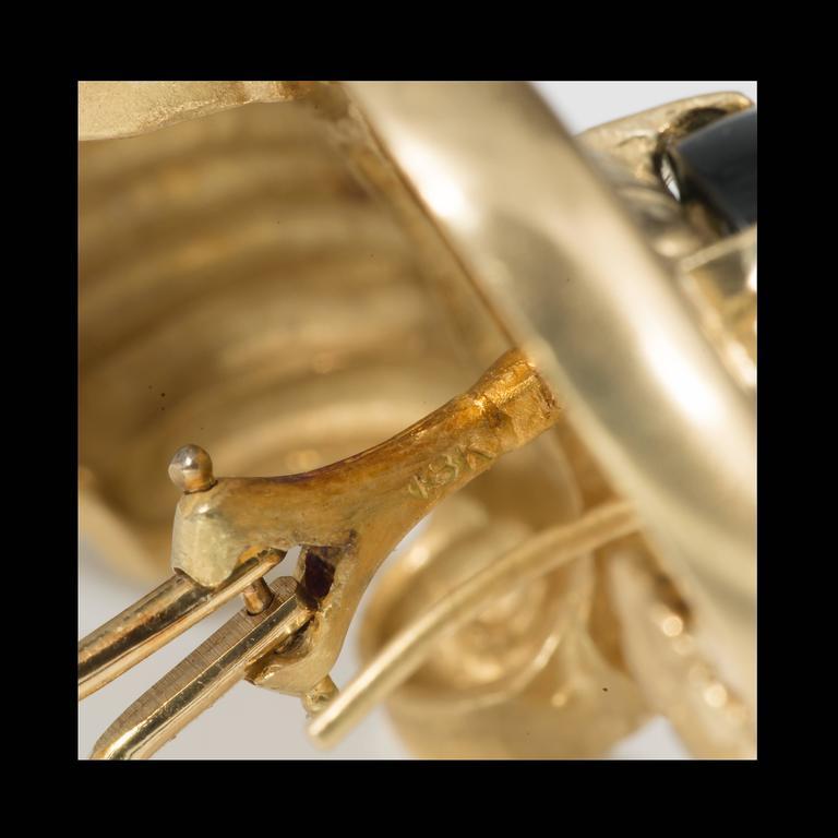 Tourmaline Diamond Gold Earrings For Sale 3