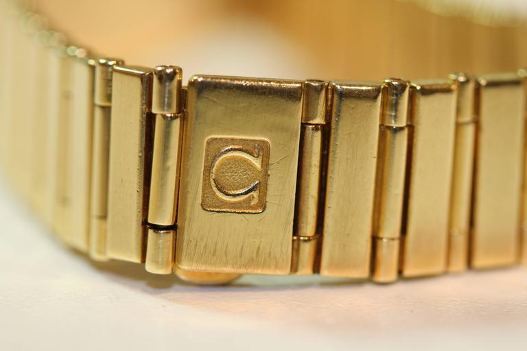 Omega Yellow Gold Constellation Quartz Wristwatch