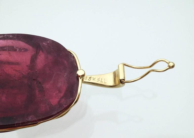 "Rubellite 147.6 ct. with Gold Bale ""Scarab Beetle Pendant"" 4"