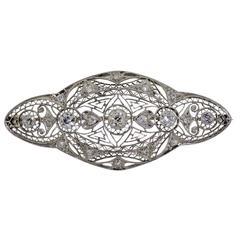 1920s Charming Lady's Diamond Gold Brooch
