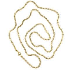 Vintage Fancy Link 14 Karat Yellow Gold Necklace