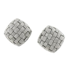 Pair of Roberto Coin 18 Karat White Gold Appassionata Earclips