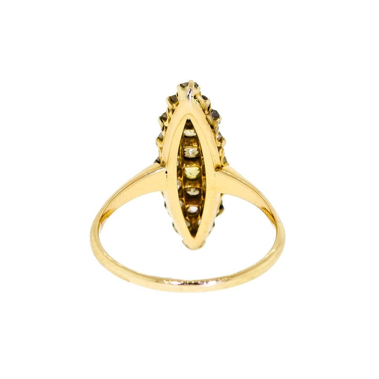 Sweet Antique Turn of the Century Diamond And Yellow Gold Ring In Good Condition For Sale In Lombard, IL