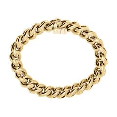 Renesim Broad Link Chain Gold Bracelet