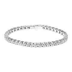 Renesim 13.13 Carats Diamonds Gold Tennis Bracelet