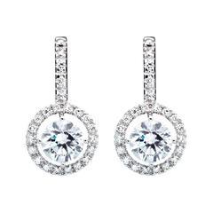 Renesim Halo Diamond Gold Earrings