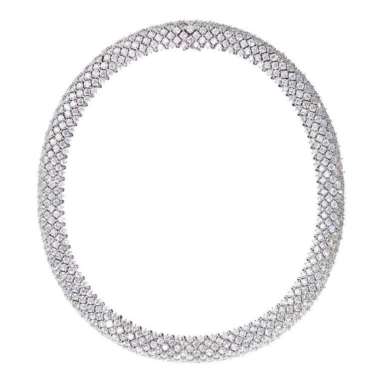 Renesim 60 Carat Diamond Gold Collier Necklace