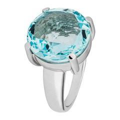 Renesim Aquamarine White Gold Round Ring