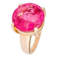 Renesim Rubelite Rose Gold Round Ring