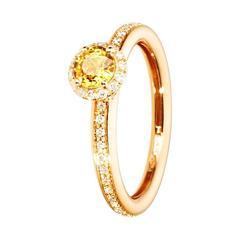 Renesim Yellow Sapphire Diamond Rose Gold Ring