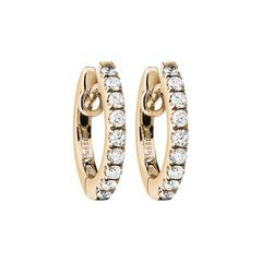 Renesim Diamond Rose Gold Hoop Earrings