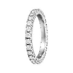 Renesim Prong-Set Diamond White Gold Eternity Ring
