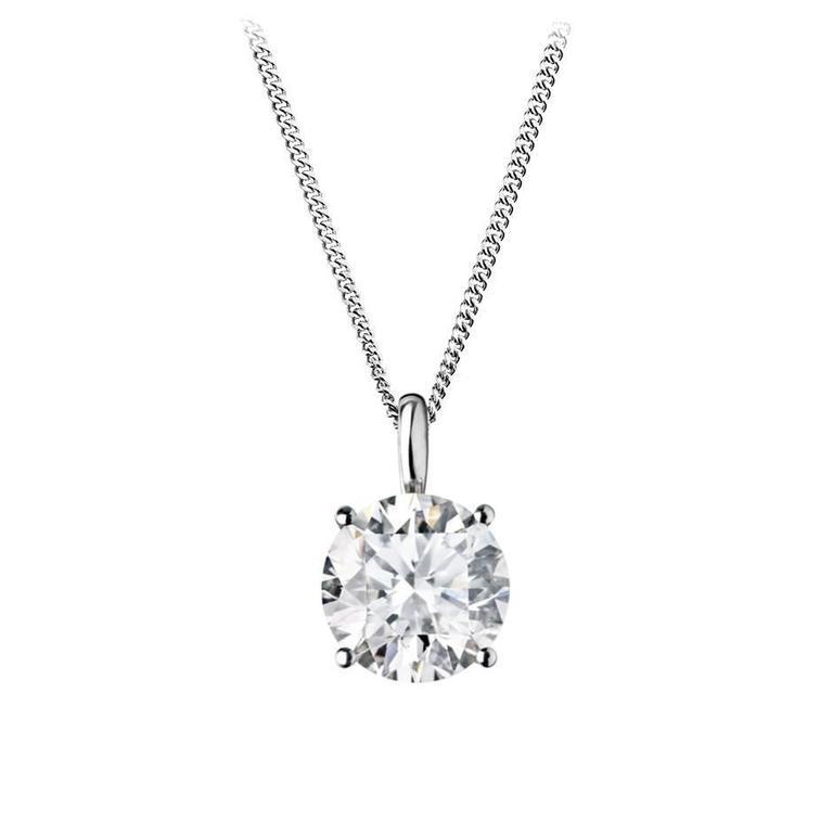Renesim 0.71 Carats Diamonds White Gold Pendant