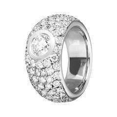Renesim 1 Carat Brilliant and Pave Diamond Gold Ring