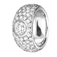 ReneSim 1Carat Brilliant and Pave Diamond Gold Ring