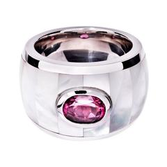RENESIM Mother of Pearl Ruby Ring