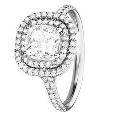 Renesim Cushion Cut Diamond Cluster Ring