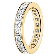 Renesim Princess Cut Diamond Gold Eternity Ring