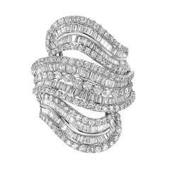 Diamond Cluster Modern Gold Ring