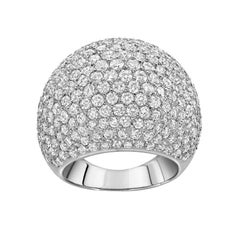Diamond Gold Dome Cocktail Ring